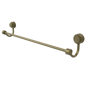 Venus Collection 30 Inch Towel Bar with Dotted Accent, Antique Brass