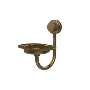 Venus Collection Tumbler and Toothbrush Holder with Dotted Accents, Brushed Bronze
