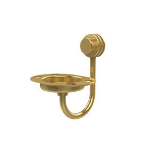 Venus Collection Tumbler and Toothbrush Holder with Dotted Accents, Unlacquered Brass