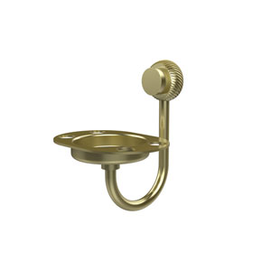 Venus Collection Tumbler and Toothbrush Holder with Twisted Accents, Satin Brass
