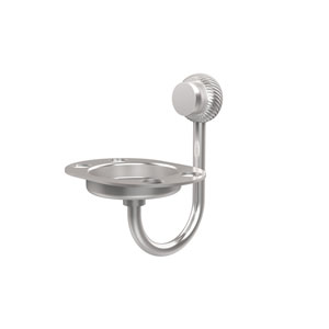 Venus Collection Tumbler and Toothbrush Holder with Twisted Accents, Satin Chrome