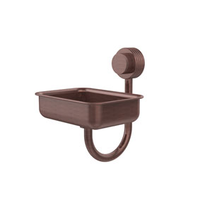 Venus Collection Wall Mounted Soap Dish with Groovy Accents, Antique Copper