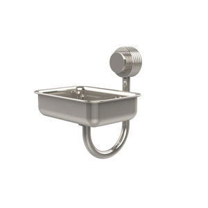 Venus Collection Wall Mounted Soap Dish with Groovy Accents, Polished Nickel