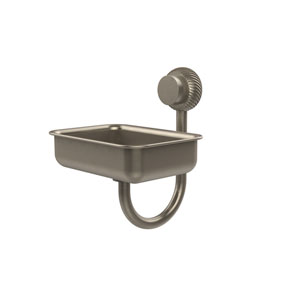 Venus Collection Wall Mounted Soap Dish with Twisted Accents, Antique Pewter