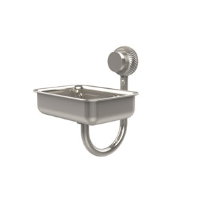 Venus Collection Wall Mounted Soap Dish with Twisted Accents, Polished Nickel