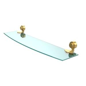Venus Polished Brass 24-Inch Single Shelf