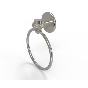 Satellite Orbit One Collection Towel Ring with Twist Accent, Satin Nickel