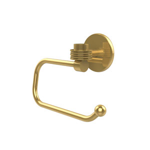 Satellite Orbit One Collection Euro Style Toilet Tissue Holder with Dotted Accents, Polished Brass