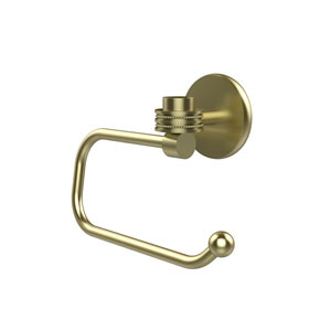 Satellite Orbit One Collection Euro Style Toilet Tissue Holder with Dotted Accents, Satin Brass