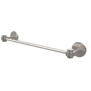 Satellite Orbit One Collection 24 Inch Towel Bar with Dotted Accents, Satin Nickel