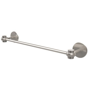 Satellite Orbit One Collection 24 Inch Towel Bar with Twist Accents, Satin Nickel