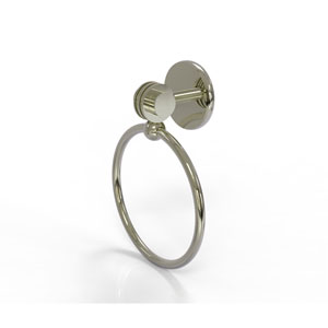 Satellite Orbit Two Collection Towel Ring with Dotted Accent, Polished Nickel