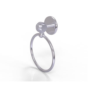 Satellite Orbit Two Collection Towel Ring with Dotted Accent, Satin Chrome