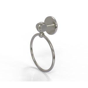Satellite Orbit Two Collection Towel Ring with Twist Accent, Satin Nickel