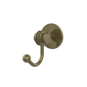 Satellite Orbit Two Collection Robe Hook with Dotted Accents, Antique Brass