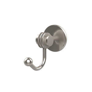 Satellite Orbit Two Collection Robe Hook with Dotted Accents, Satin Nickel