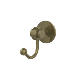 Satellite Orbit Two Collection Robe Hook with Groovy Accents, Antique Brass