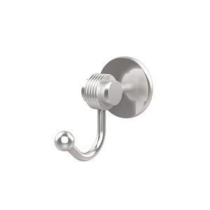 Satellite Orbit Two Collection Robe Hook with Groovy Accents, Satin Chrome