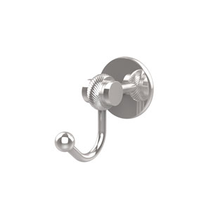 Satellite Orbit Two Collection Robe Hook with Twisted Accents, Polished Chrome