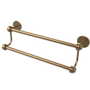 24 Inch Double Towel Bar, Brushed Bronze