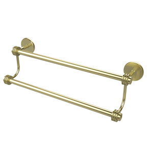 24 Inch Double Towel Bar, Satin Brass