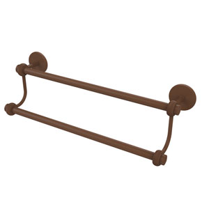 18 Inch Double Towel Bar, Antique Bronze