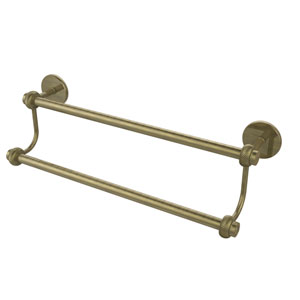 24 Inch Double Towel Bar, Antique Brass