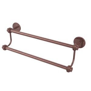 24 Inch Double Towel Bar, Antique Copper