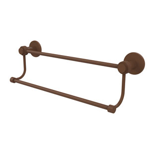 Mercury Collection 24 Inch Double Towel Bar with Groovy Accents, Antique Bronze