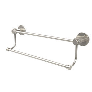 Mercury Collection 18 Inch Double Towel Bar with Twist Accents, Polished Nickel