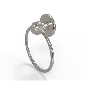 Mercury Collection Towel Ring with Groovy Accent, Satin Nickel