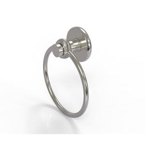 Mercury Collection Towel Ring with Twist Accent, Satin Nickel