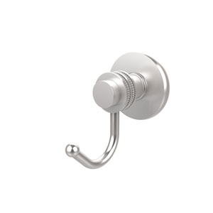 Mercury Collection Robe Hook with Dotted Accents, Satin Chrome