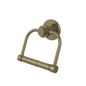 Mercury Collection 2 Post Toilet Tissue Holder with Dotted Accents, Antique Brass