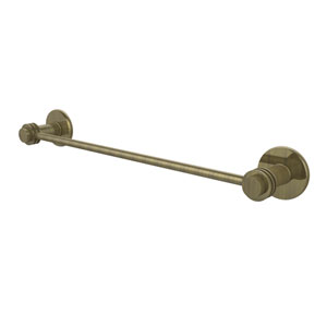Mercury Collection 18 Inch Towel Bar with Dotted Accent, Antique Brass