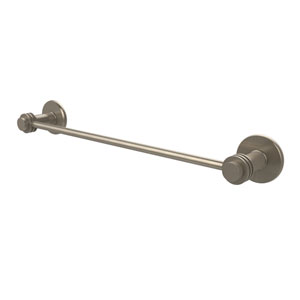 Mercury Collection 18 Inch Towel Bar with Dotted Accent, Antique Pewter