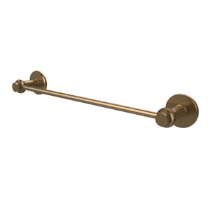 Mercury Collection 18 Inch Towel Bar with Twist Accent, Brushed Bronze