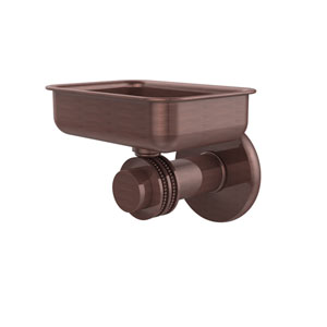 Mercury Collection Wall Mounted Soap Dish with Dotted Accents, Antique Copper