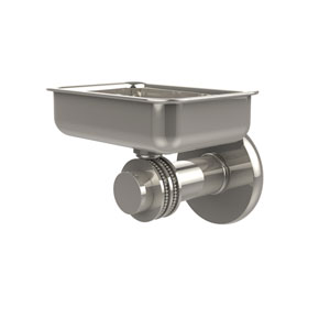 Mercury Collection Wall Mounted Soap Dish with Dotted Accents, Polished Nickel