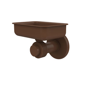Mercury Collection Wall Mounted Soap Dish with Groovy Accents, Antique Bronze