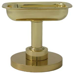 Mercury Polished Brass Free Standing Soap Dish