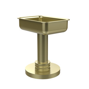 Vanity Top Soap Dish with Dotted Accents, Satin Brass