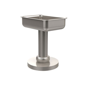 Vanity Top Soap Dish with Twisted Accents, Satin Nickel