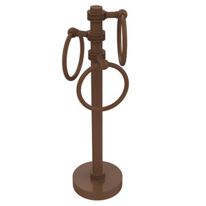 Vanity Top 3 Towel Ring Guest Towel Holder with Dotted Accents, Antique Bronze