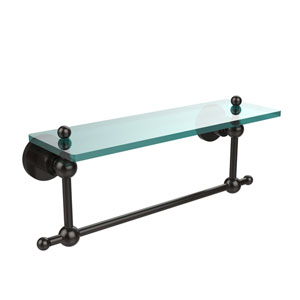 Oil Rubbed Bronze 16-Inch Single Shelf with Towel Bar