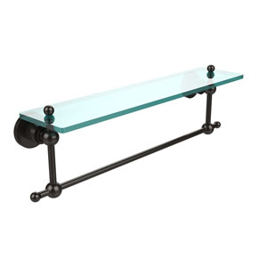 Oil Rubbed Bronze 22-Inch Single Shelf with Towel Bar