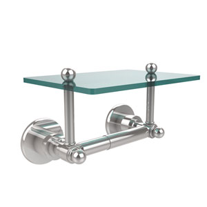 Astor Place Collection Two Post Toilet Tissue Holder with Glass Shelf, Polished Chrome