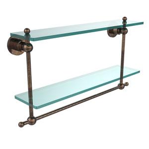 Astor Place Venetian Bronze 22 x 5 Glass Shelf with Towel Bar