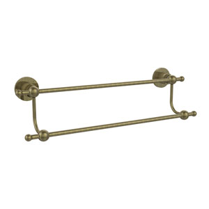 Astor Place Antique Brass 18 Inch Double Towel Bar