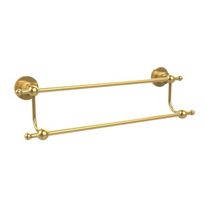 Astor Place Polished Brass 18 Inch Double Towel Bar